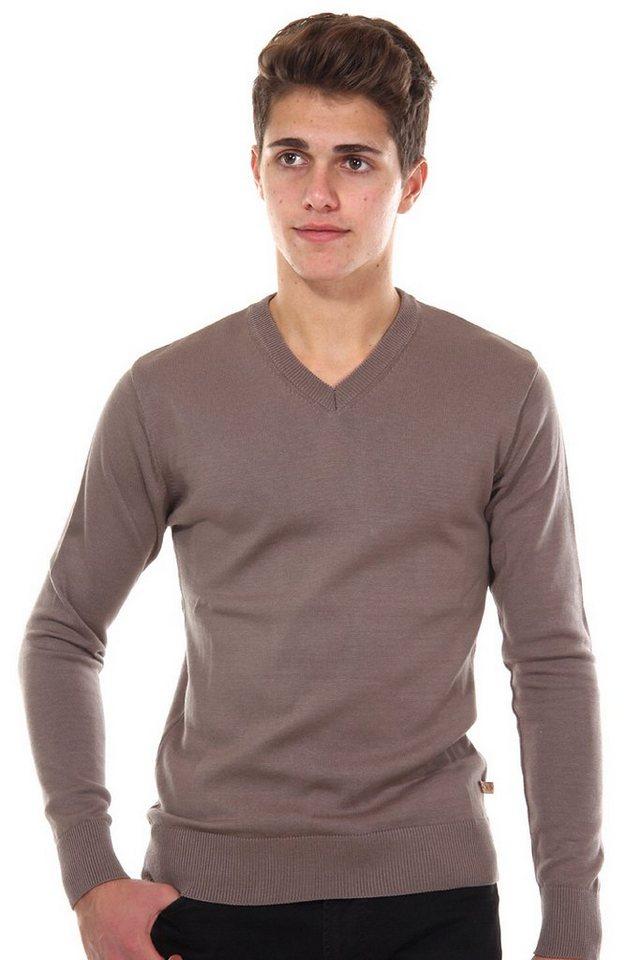 R-NEAL Pullover V-Ausschnitt slim fit in beige