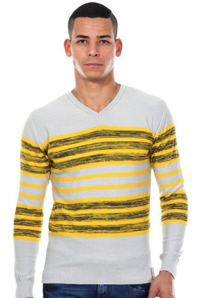 R-NEAL Pullover V-Ausschnitt slim fit in grau