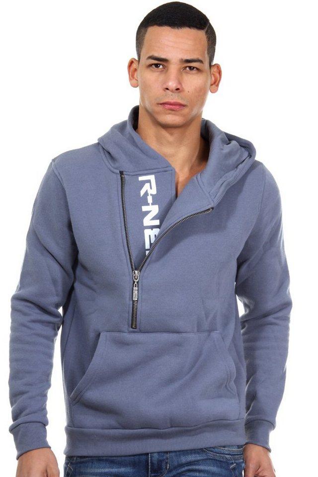 R-NEAL Kapuzensweater mit Zip regular fit in anthrazit