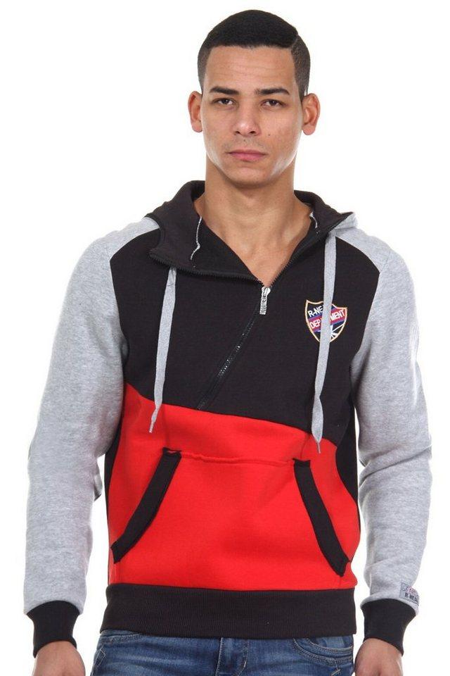 R-NEAL Kapuzensweater regular fit in schwarz