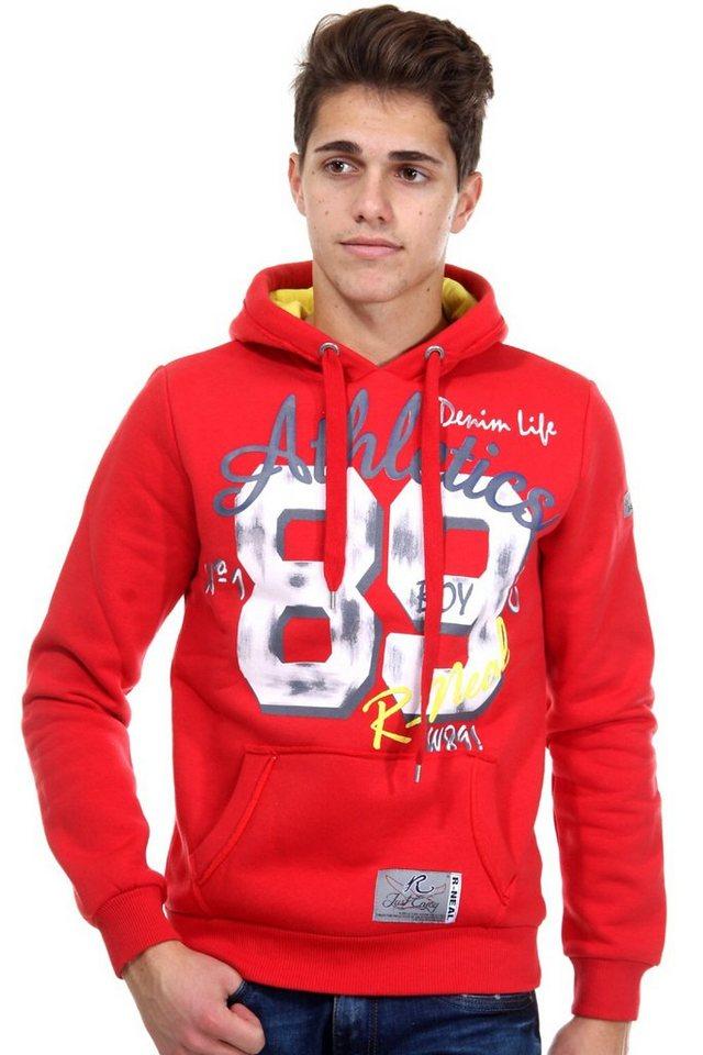 R-NEAL Kapuzensweater regular fit in rot