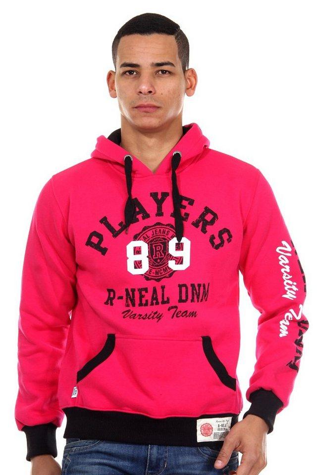 R-NEAL Kapuzensweater regular fit in pink