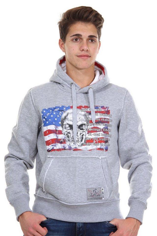 R-NEAL Kapuzensweater regular fit in grau
