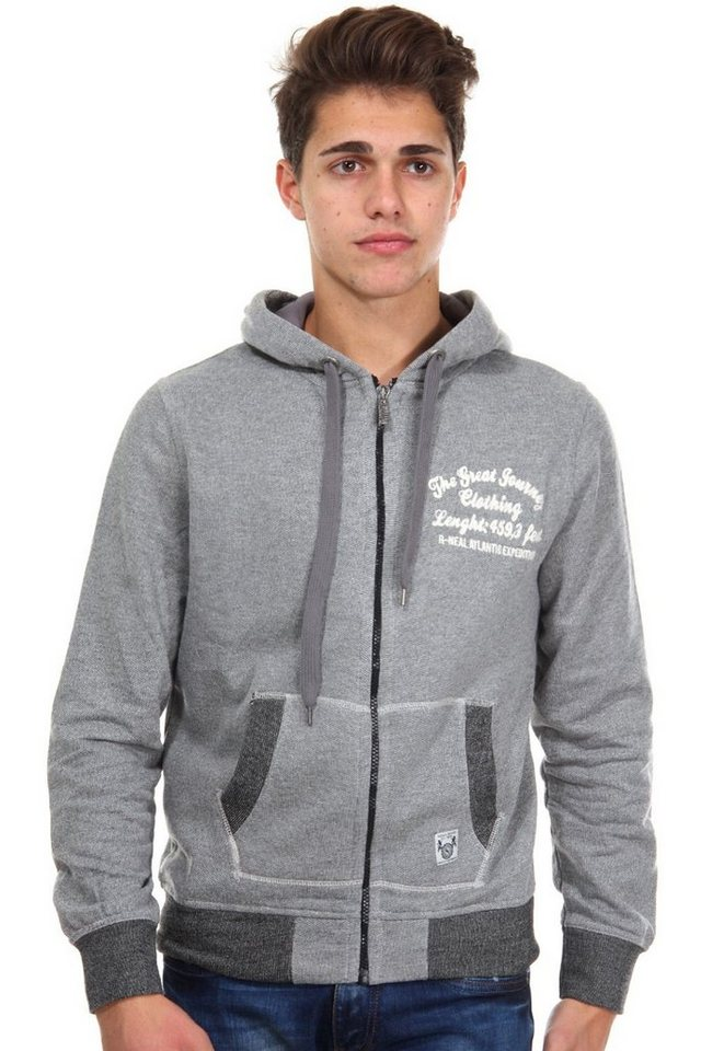 R-NEAL Kapuzensweatjacke regular fit in grau