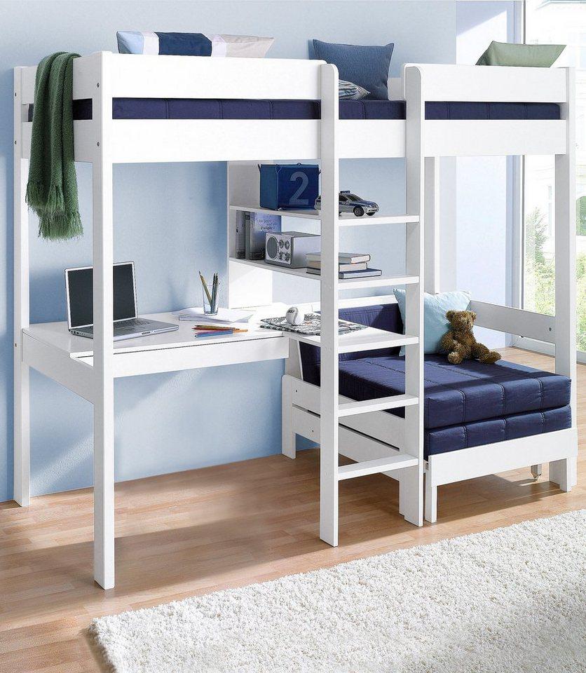 hochbett bettgestell und leiter aus massivholz online. Black Bedroom Furniture Sets. Home Design Ideas
