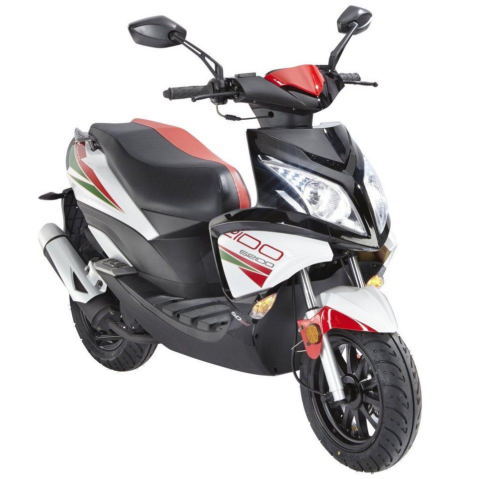 Motorroller »Force«, 50 ccm, 45 km/h in weiß