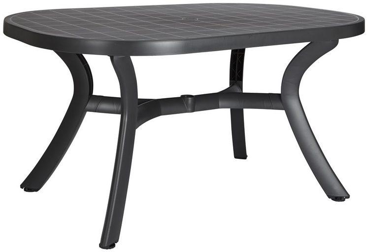 Best gartentisch kansas kunststoff 145x95 cm anthrazit online kaufen otto - Gartentisch oval kunststoff ...