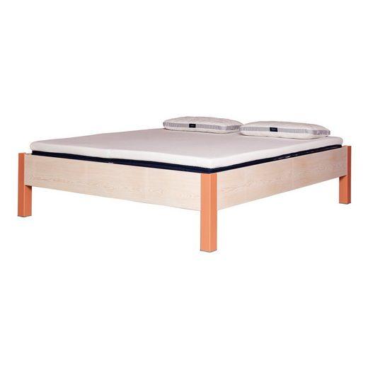 JOHANENLIES Bett »Upcycling Bett ALTIERS«, Recyceltes Bauholz, Nachhaltig, Handarbeit, Minimalistisch