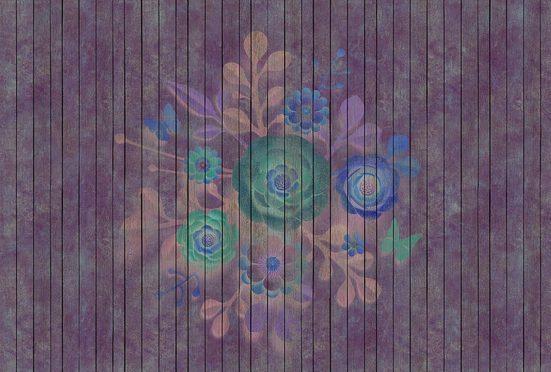 living walls Fototapete »Walls by Patel Spray Bouquet 1«, glatt, (4 St)