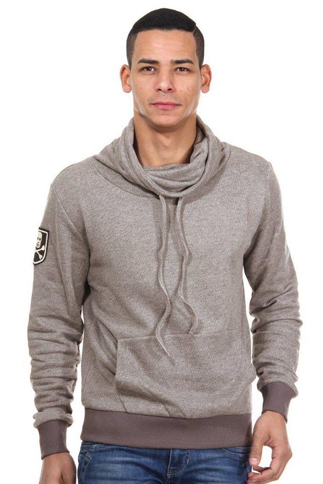 R-NEAL Sweater mit Stehkragen in grau
