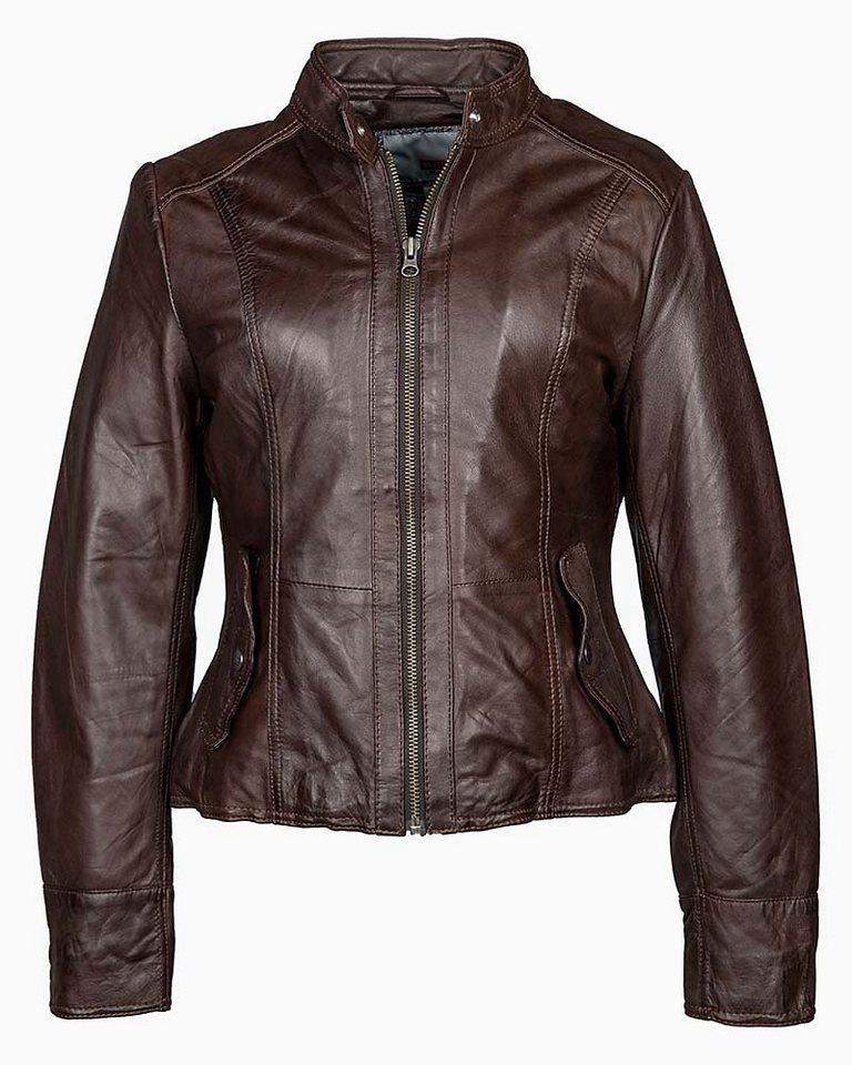 Mustang Lederjacke, Damen »Melville« in dark brown