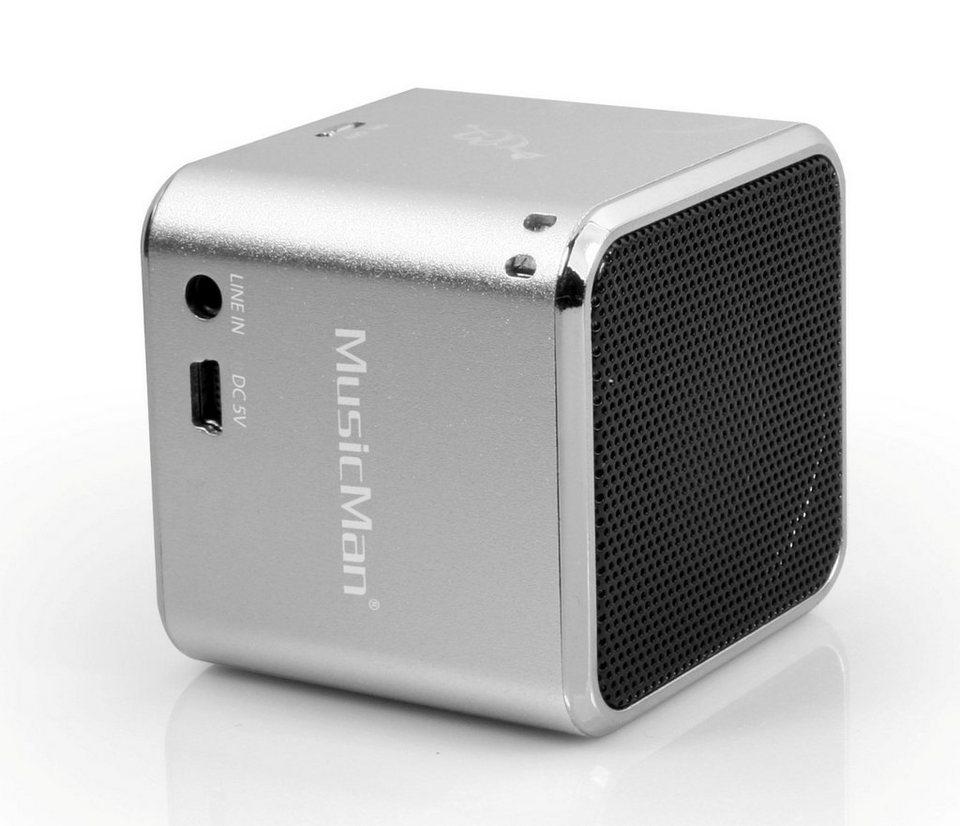 Technaxx Wireless Lautsprecher »MusicMan SOUNDSTATION BT-X2 Silber«