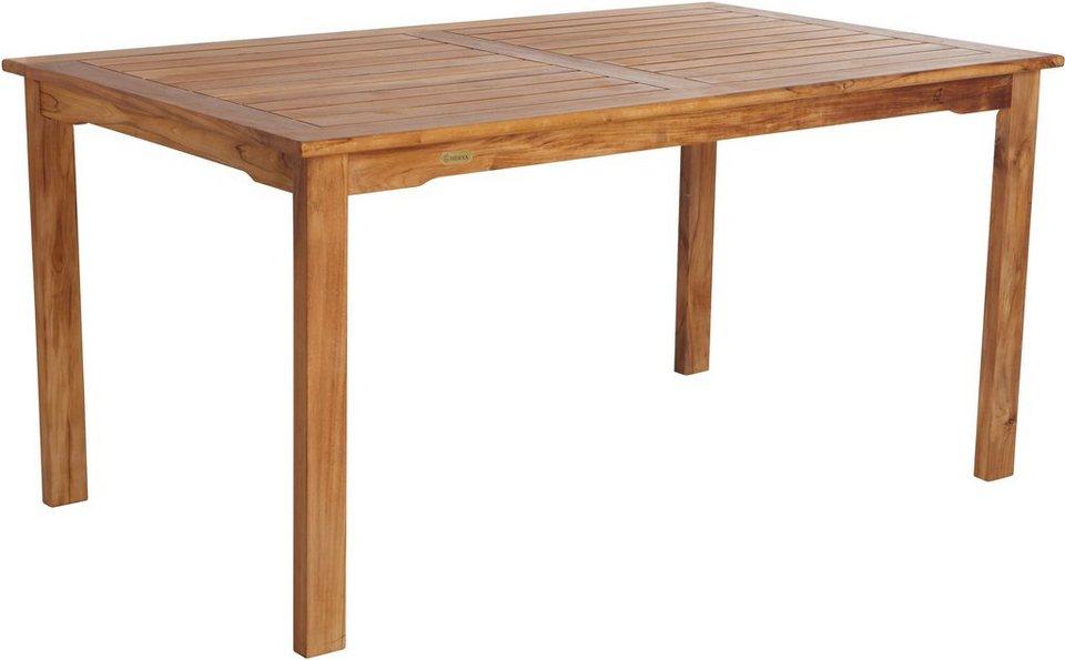 merxx gartentisch marseille teakholz 150x90 cm otto. Black Bedroom Furniture Sets. Home Design Ideas