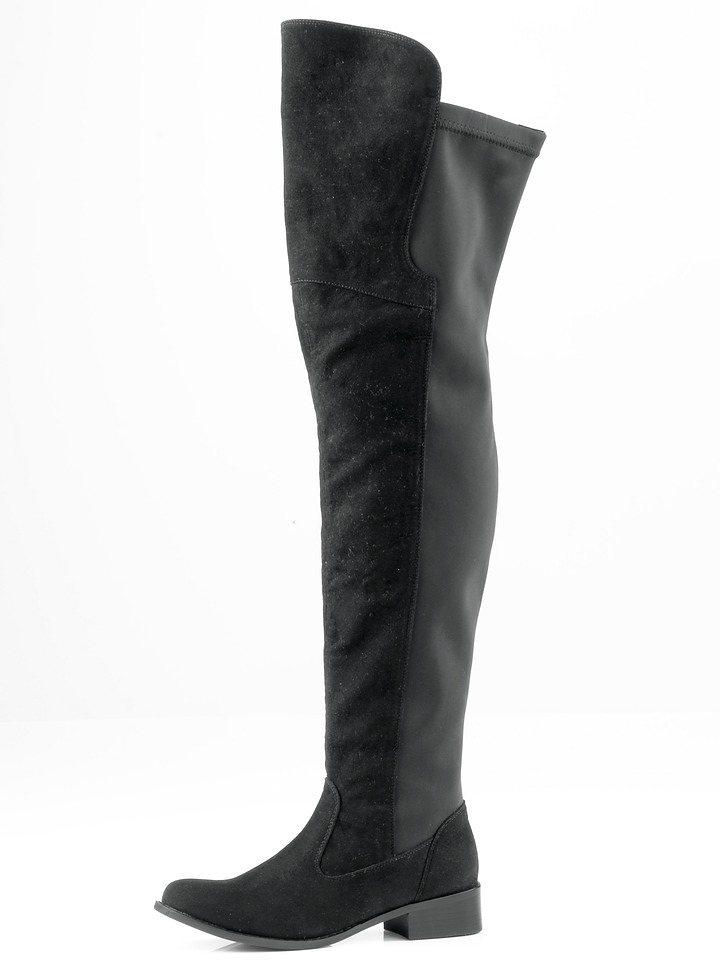 Andrea Conti Overknees in schwarz