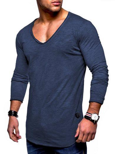 behype Langarmshirt »NUKE L/S« mit V-Ausschnitt