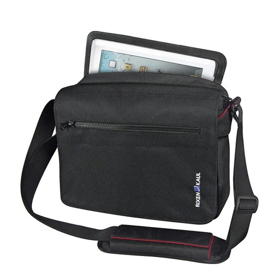 KlickFix Gepäckträgertasche »PadBag Office Tasche schwarz/rot«