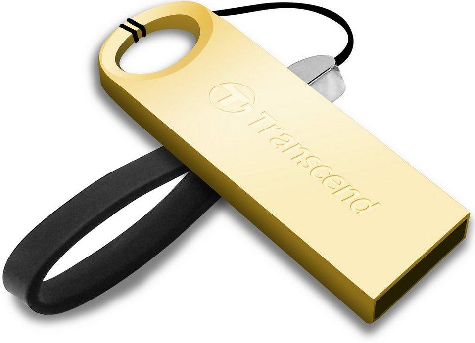 Transcend 64GB JetFlash 520G USB-Stick mit Metallgehäuse USB 2.0 in gold