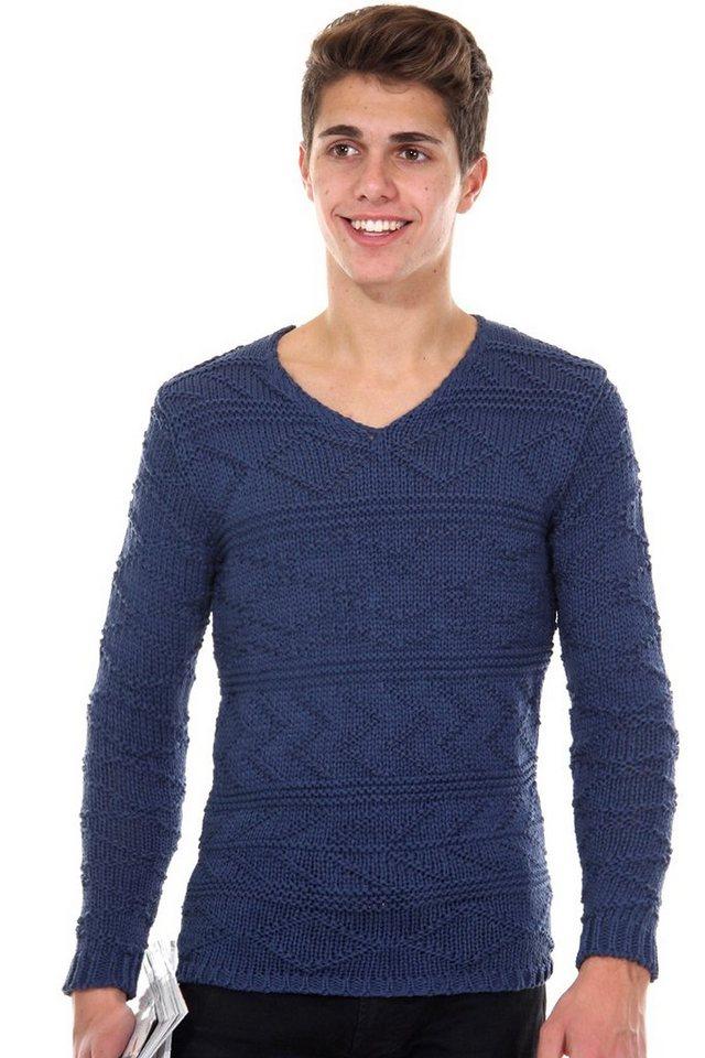R-NEAL Pullover V-Ausschnitt slim fit in marine