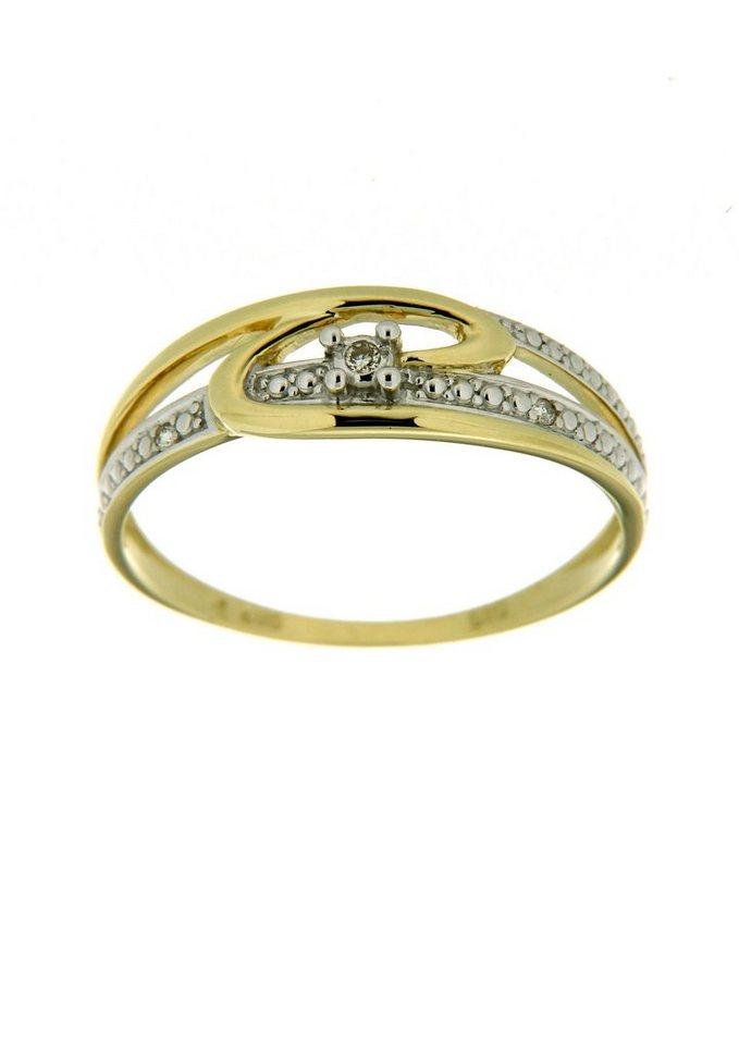 Vivance Jewels Ring mit Diamanten in Gelbgold 333