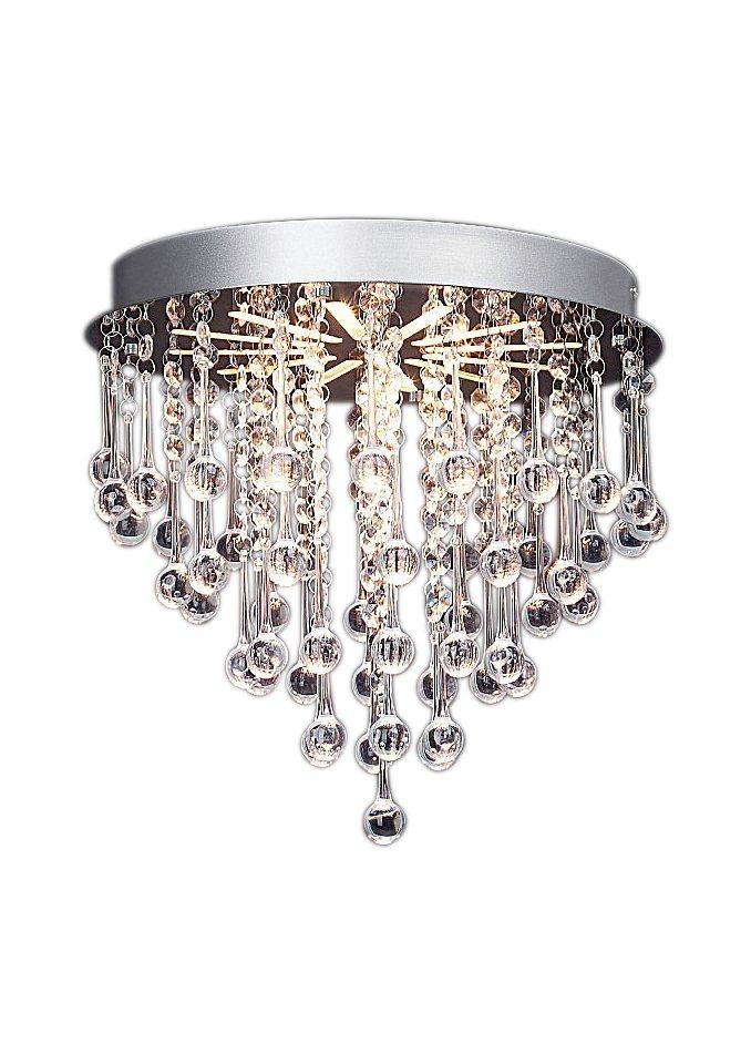 Elegante LED-Deckenlampe in silberfarben