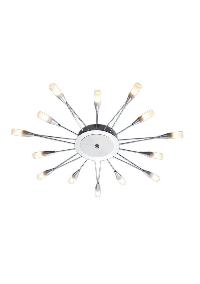 LED-Deckenlampe (14flg.) in silberfarben