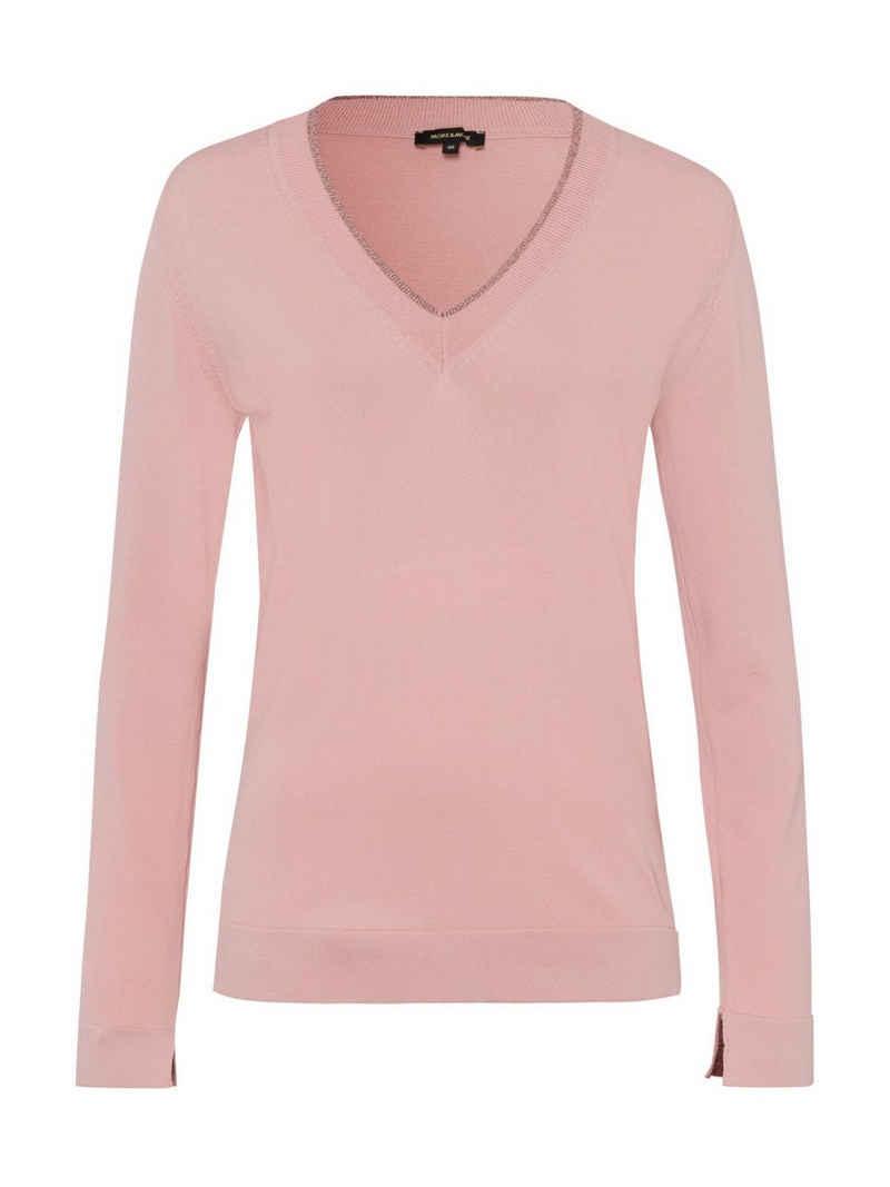 MORE&MORE V-Ausschnitt-Pullover (1-tlg)