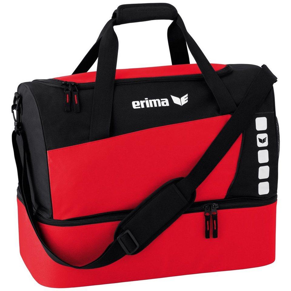 ERIMA CLUB 5 Sporttasche mit Bodenfach M in rot/schwarz
