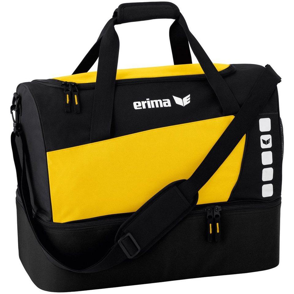 ERIMA CLUB 5 Sporttasche mit Bodenfach S in gelb/schwarz