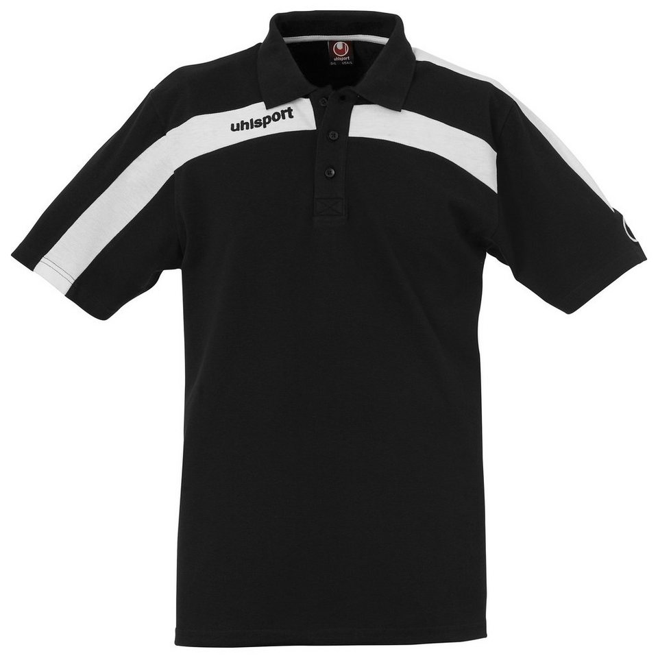 UHLSPORT Liga Poloshirt Herren in schwarz / weiß