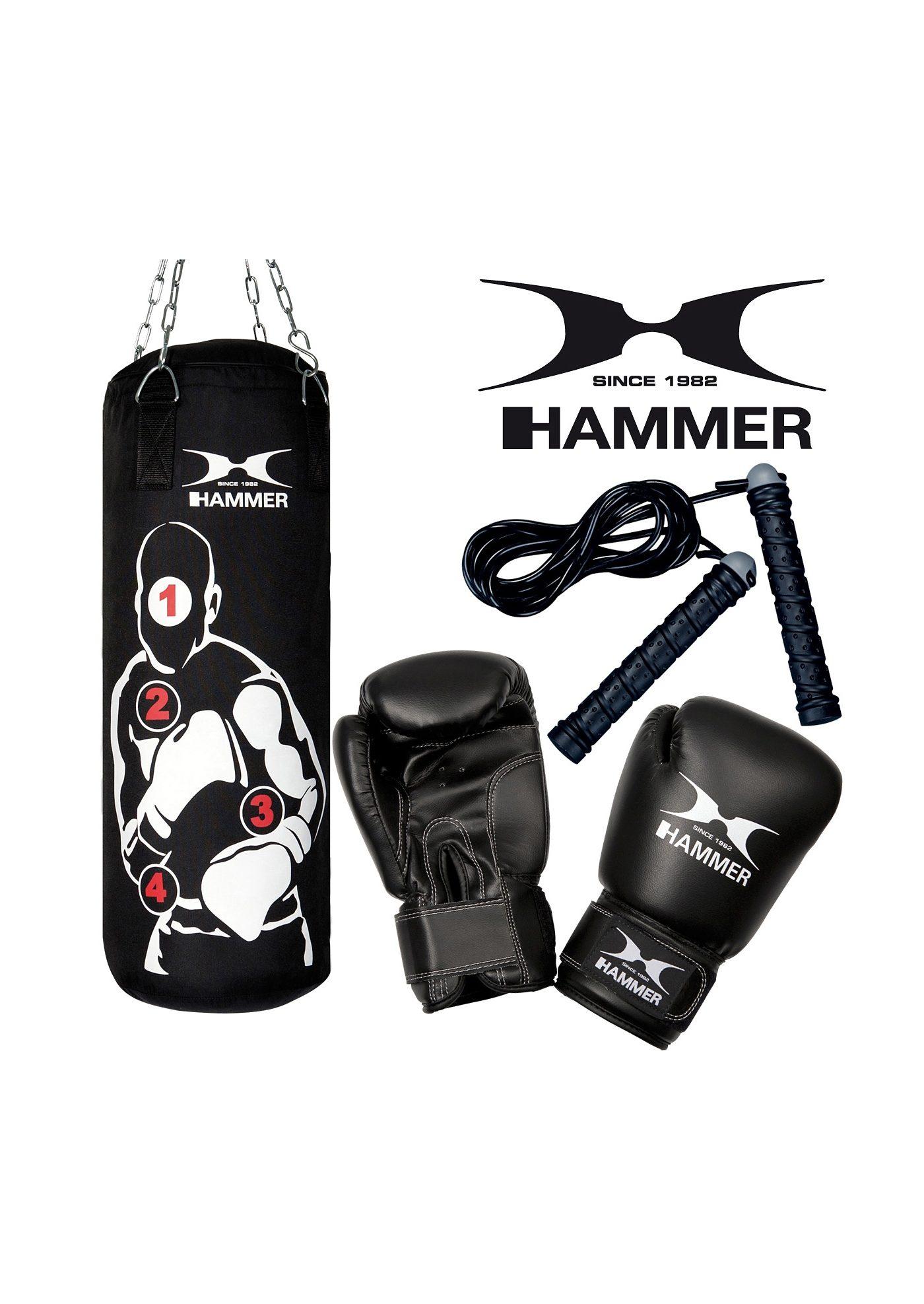 Set: Box-Set, schwarz-weiß, »Sparring Pro«, Hammer® (3tlg.)