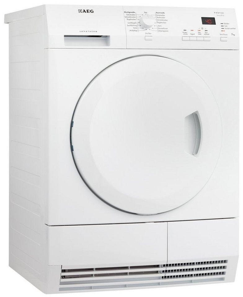 AEG Trockner Lavatherm T6537AH3, A+, 7 kg in weiß