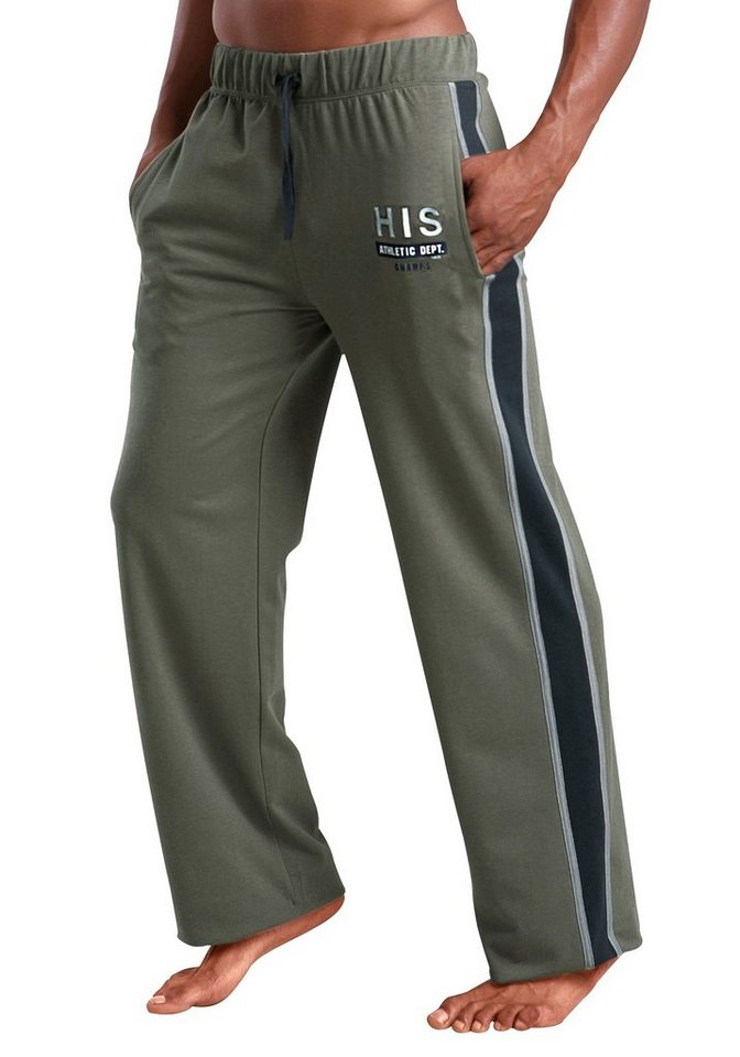 H.I.S Relaxhose/Freizeithose in oliv
