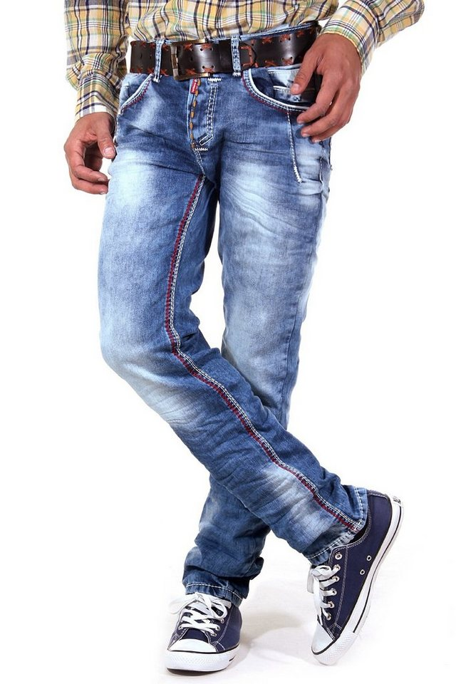 R-NEAL Jeans Regular Fit in hellblau