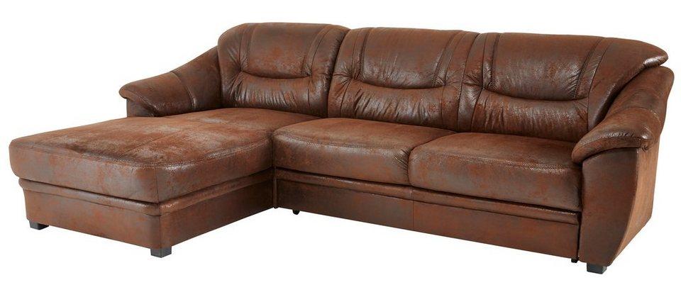 home affaire polsterecke savona mit federkern und wahlweise mit bettfunktion online kaufen otto. Black Bedroom Furniture Sets. Home Design Ideas