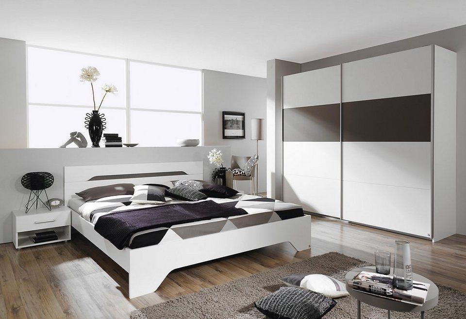 rauch Schlafzimmer-Set (4-tlg.) in weiß/lavagrau