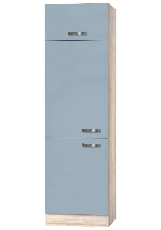 Optifit Kühlumbauschrank »Skagen«, Höhe 206,8 cm in akaziefarben/blau
