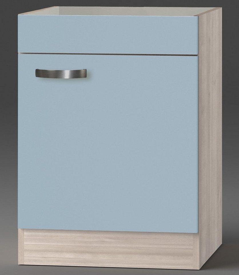 Optifit Kochfeldumbauschrank »Skagen«, Breite 60 cm in akaziefarben/blau