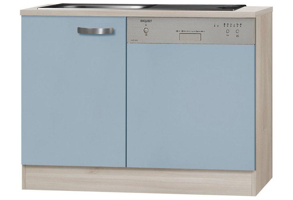 Spülenschrank »Skagen«, Breite 110 cm in blau