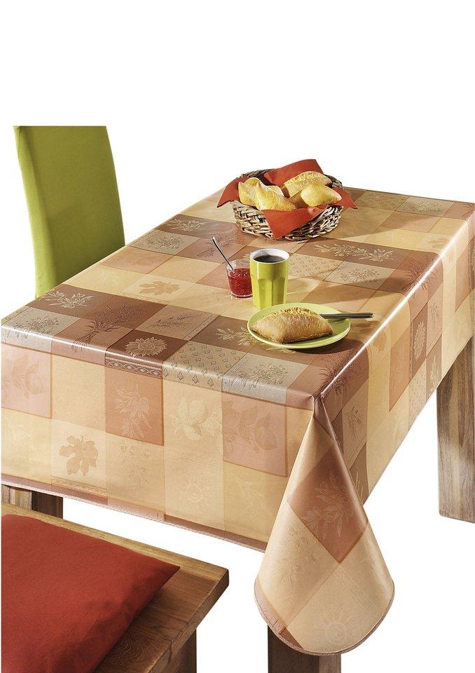 Tischdecke in terrakotta