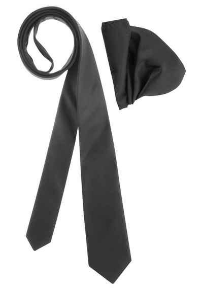 Bruno Banani Krawatte (Set, 2-St., mit Einstecktuch) inklusive Einstecktuch