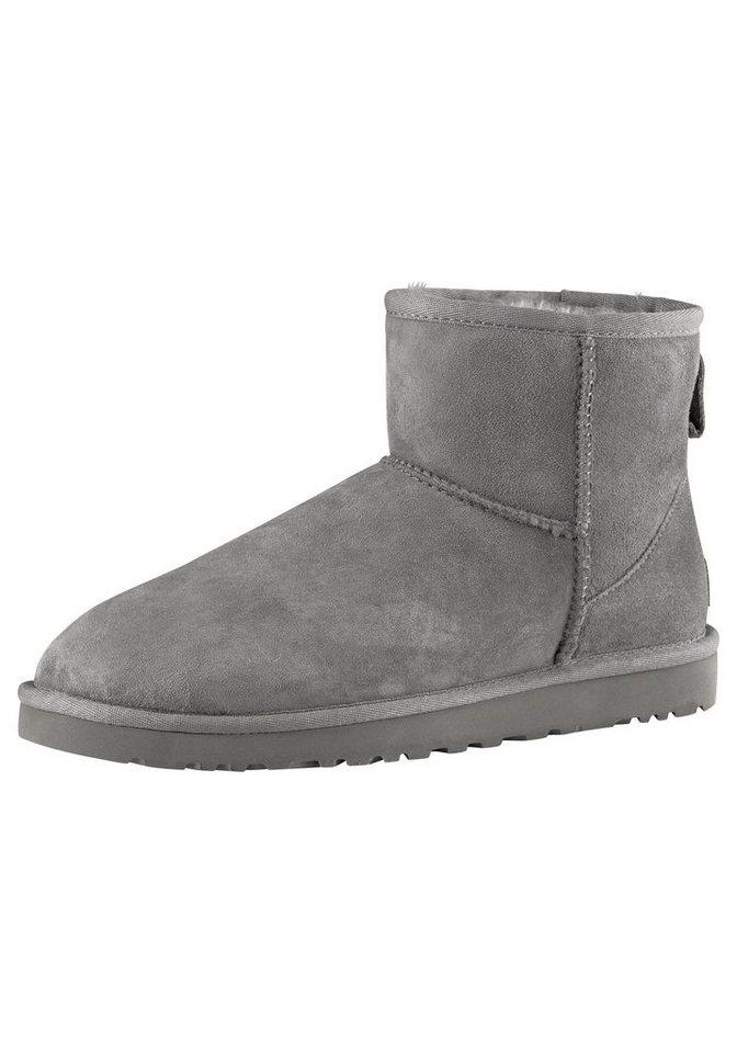 UGG »Classic Mini 2« Winterboots mit Lammfell | Schuhe > Boots > Winterstiefel | Grau | UGG
