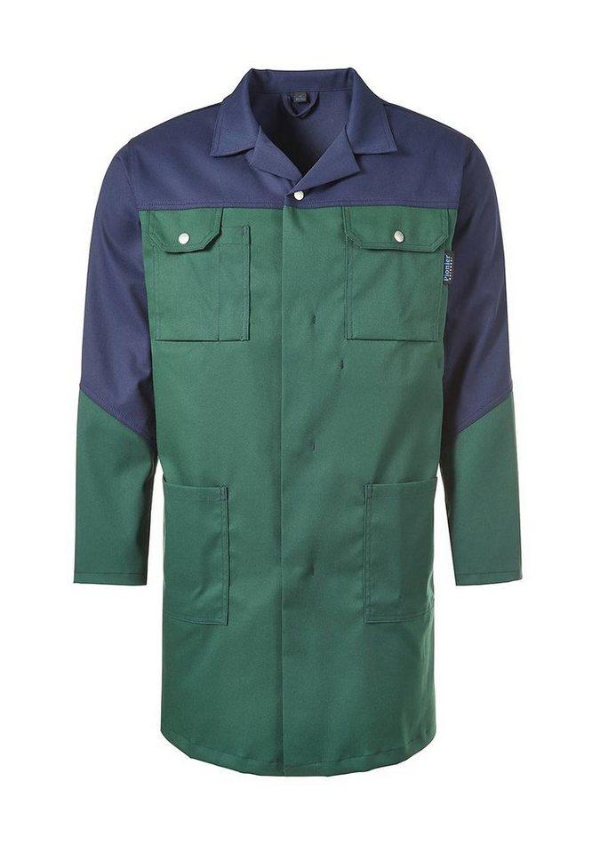 Pionier ® workwear Mantel mit Reverskragen Top Comfort Stretch in grün/marine