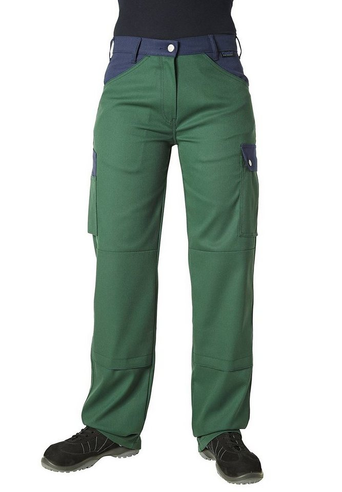 Pionier ® workwear 5-Pocket-Damenhose Top Comfort Stretch in grün/marine