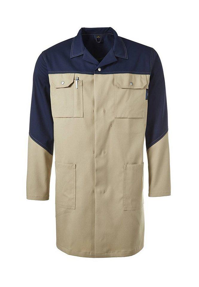 Pionier ® workwear Mantel mit Reverskragen Top Comfort Stretch in khaki/marine