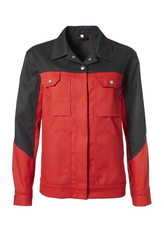 Pionier ® workwear Bundjacke Damen Top Comfort Stretch in rot/schwarz