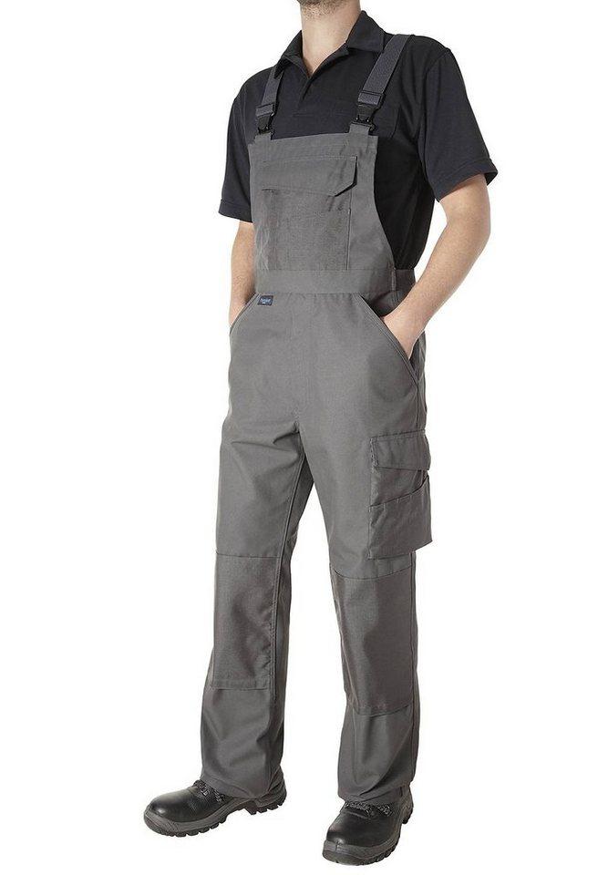 Pionier ® workwear Latzhose Canvas-Cordura® in grau