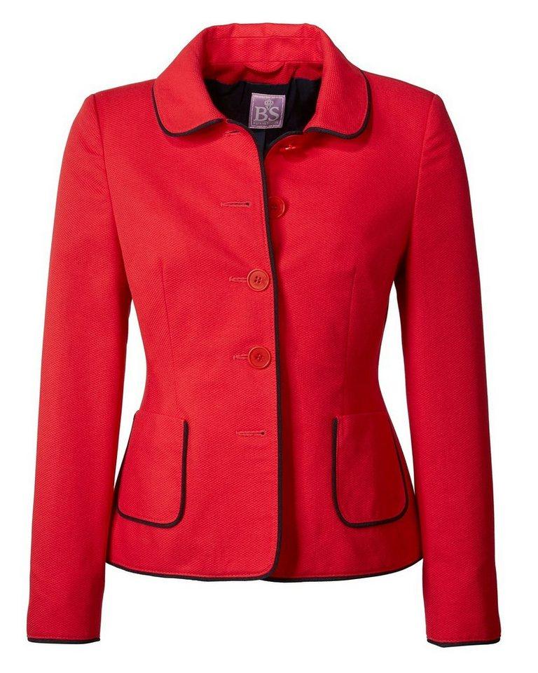 Brigitte von Schönfels Piqué-Jacke in Rot