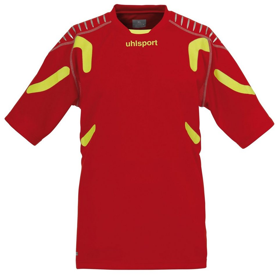 UHLSPORT TorwartTECH Shirt kurzarm Herren in rot / fluogelb