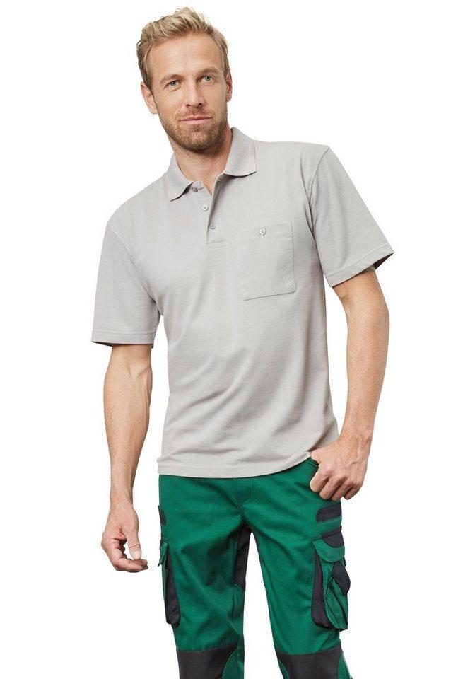 Pionier ® workwear Poloshirt-Piqué kurzarm in hellgrau