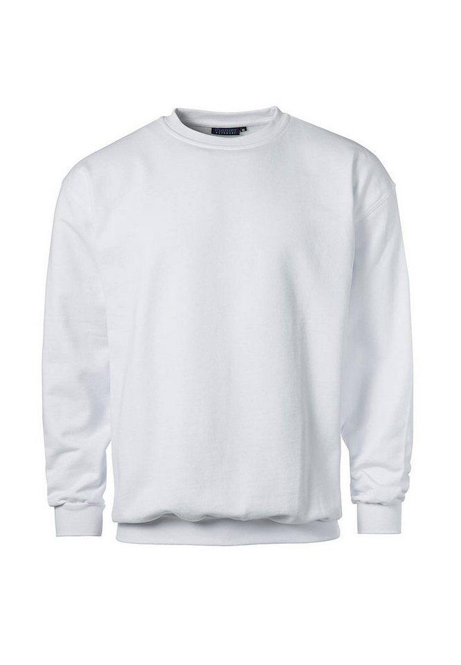 Pionier ® workwear Sweatshirt mit Rundhals in weiss